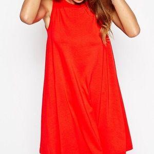 ASOS Sleeveless Red Swing Dress